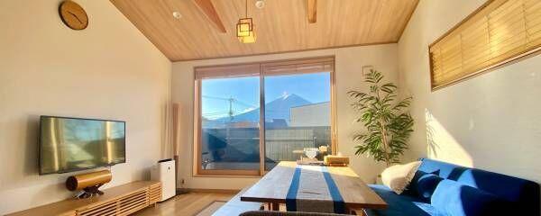 一泊一人約5,000円台〜!河口湖にある富士山ビューの〈Airbnb〉宿でワーケーション体験。