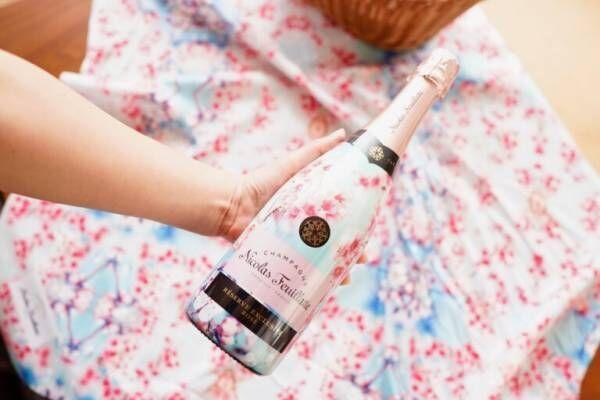 """フランス人が一番飲んでいるシャンパン!「ニコラ・フィアット」の """"SAKURA""""でおうち花見ピクニック。"""