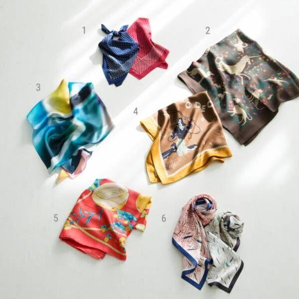 この春挑戦したい「おしゃれスカーフ」6選!いつもの定番アイテムにプラスして。【Hanako Something Good vol.20】