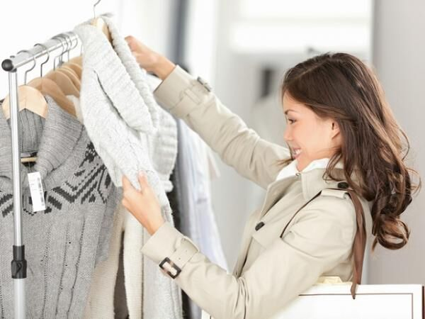woman shopping clothes