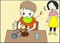 夫の実家でドキッ!食べ方が独特な自閉症の長男に意外な声をかけたのは…?