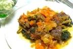 【ムーンダイエット】2月の下弦の月洋食は、野菜たっぷり「牛肉のロール煮」