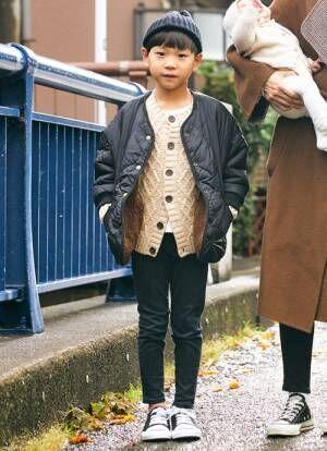 冬の男の子コーデは 「ニットキャップ」でもっとおしゃれに!