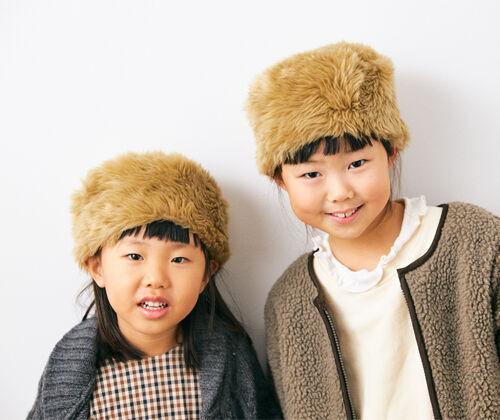 ふわふわ可愛い「ロシア帽」 お手本キッズコーデ