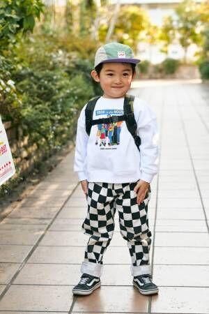 """男の子コーデは """"キャップ""""でおしゃれが鉄則!"""