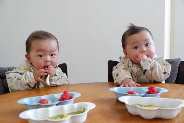 【連載】モデル・武智志穂の沖縄でのんびり双子育児 Vol.7「離乳食モグモグ期の便利アイテム」