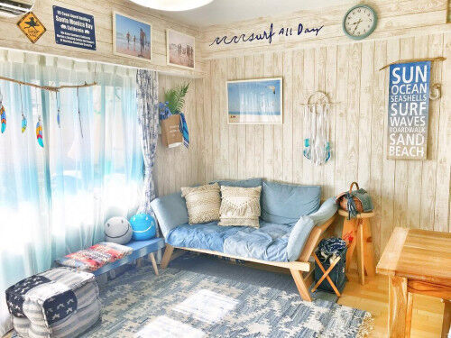 プチプラDIYでオシャレに!青×白の「西洋海岸風インテリア」7選