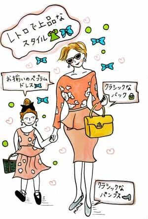 【女の子ママに♡】色で楽しむ!親子パーティーファッションコーデ #01