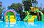 子どもも大人も大はしゃぎ⁉︎開放感あふれる水遊び場オープン