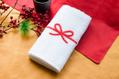 タオルに直接水引を刺繍!縁起がよいお祝いタオル