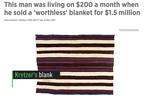 古い毛布が1億6千万円に…貧困男性の人生が変わる