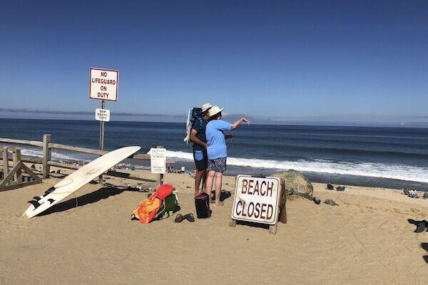 事故が起こったビーチは閉鎖されている (写真:AP/アフロ)