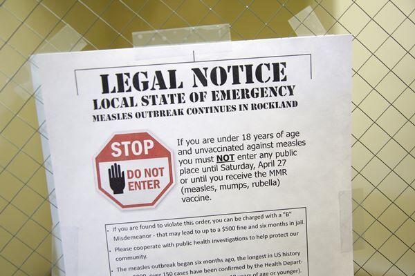非常事態宣言下のNYでは、MMRワクチン未接種の18歳以下の子どもはあらゆる公共施設への立ち入りを禁じられた(写真:AP/アフロ)
