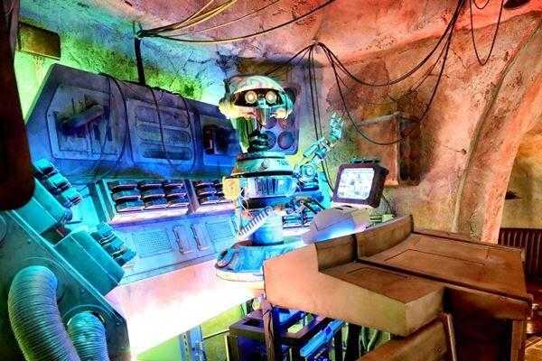 8月にオープンした「スター・ウォーズ:ギャラクシーズ・エッジ」も楽しんでいたようだ(写真:ZUMA Press/アフロ)