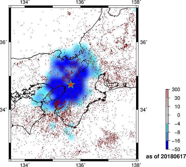 大阪府北部地震の前日、2018年6月17日の地下天気図(メルマガ『DuMAの「地下天気図」』より)