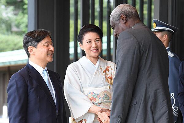 19年8月、アフリカ各国首脳をお見送り。/(C)JMPA