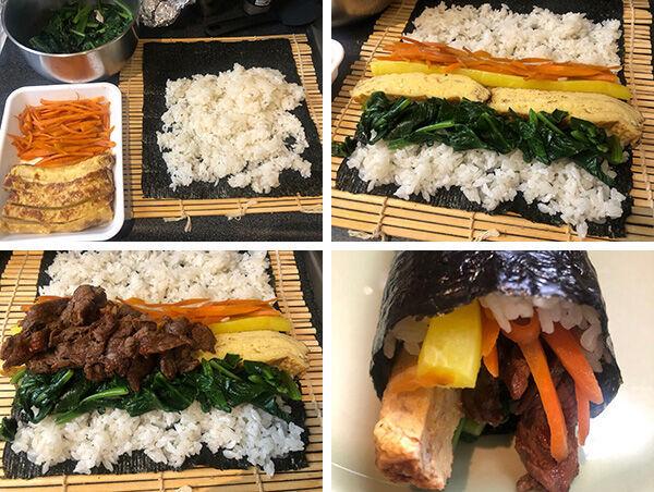 ボリュームたっぷりキンパ(辻仁成「ムスコ飯」第267飯レシピ)