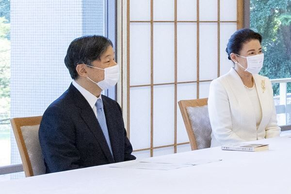 8月11日、両陛下は中満さんと面会された(写真提供:宮内庁)