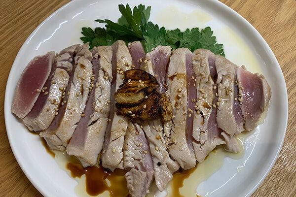 フランス風マグロのたたき(辻仁成「ムスコ飯」第280飯レシピ)