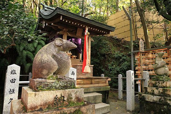 大豊神社の狛ねずみ(写真:アフロ)