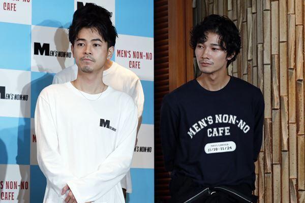 成田凌と清原翔は19年11月、雑誌「メンズノンノ」主催の専属オーディション「第34回新メンズノンノモデル」受賞者発表に出席。