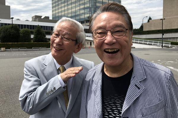昨年末、急逝した小松政夫と17年に撮った最後の2ショット
