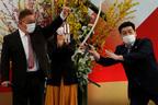 賛否ありすぎ聖火リレー出発式でサンド富澤が森喜朗いじり