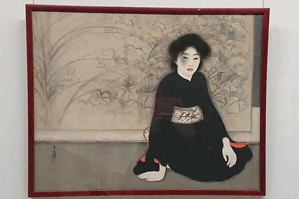 日本の女性画家の先駆者といわれる島成園の《無題》(大阪市立美術館)には、顔にあざのある妖しき女性が