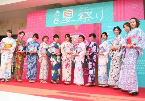 8ead765da91 最新トレンド浴衣が集結した「渋谷ゆかたコレクション」(C)oricon ME