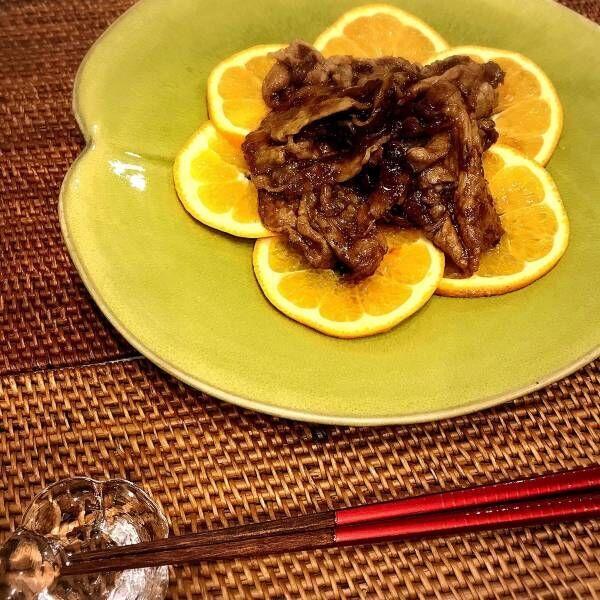 立春の伊予柑×豚肉ビタミン生姜焼き【二十四節気の時短レシピ】