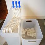 ごちゃつかない! 洗濯ハンガーの簡単収納&スムーズな動線の工夫