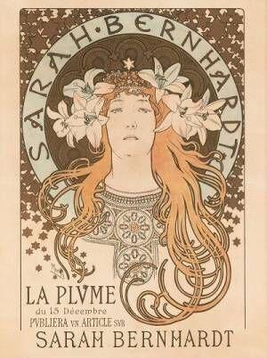 アルフォンス・ミュシャ《サラ・ベルナール》1896年リボリアンティークス蔵
