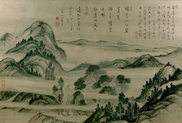 池大雅《比叡山真景図》1762 年 練馬区立美術館蔵※泉屋博古館分館(東京)にて展示