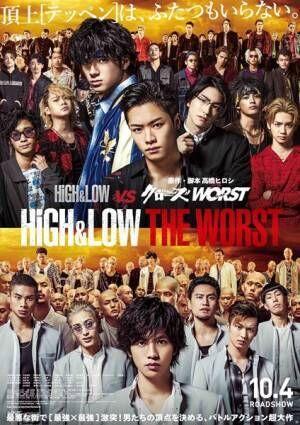 『HiGH&LOW THE WORST』ポスタービジュアル (C)2019「HiGH&LOW THE WORST」製作委員会(C)髙橋ヒロシ(秋田書店) HI-AX