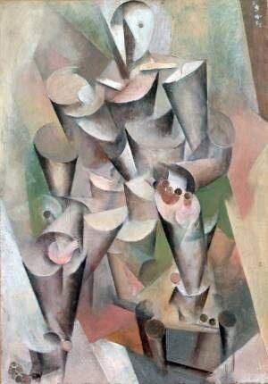 《キュビスム的人物像》1925年岡山県立美術館