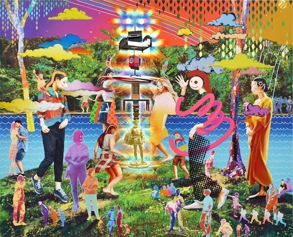 「鉄⼯島フェス 2019 コンセプトビジュアル」 ARTWORKYusuke Toda/CG+EDIT Naoya Hirata featuring Tatzu Nishi