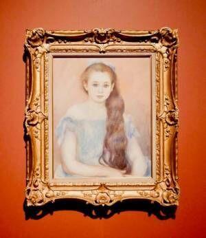 ピエール=オーギュスト・ルノワール《シュザンヌ・アダン嬢の肖像》1887年吉野石膏コレクション