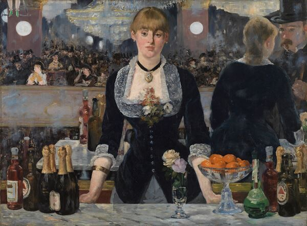 エドゥアール・マネ《フォリー=ベルジェールのバー》1882年油彩、カンヴァス 96×130cmコートールド美術館 (c)Courtauld Gallery (The Samuel Courtauld Trust)