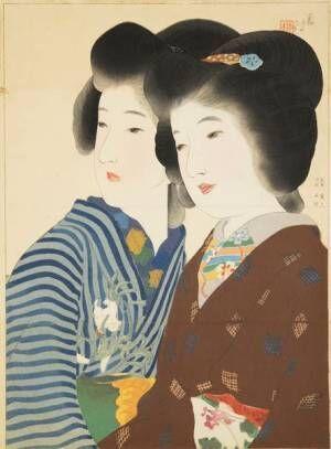 木版口絵に描かれた明治美女に魅了される『鏑木清方と鰭崎英朋』展が開催