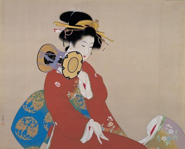 上村松園《鼓の音》昭和15年(1940)松伯美術館