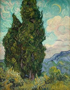 フィンセント・ファン・ゴッホ《糸杉》 1889 年 6 月油彩・カンヴァス93.4 × 74cmメトロポリタン美術館 (c)The Metropolitan Museum of Art. Image source: Art Resource, NY