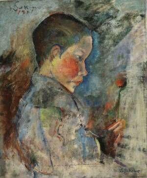 《少年》1917年油彩、カンヴァス個人蔵
