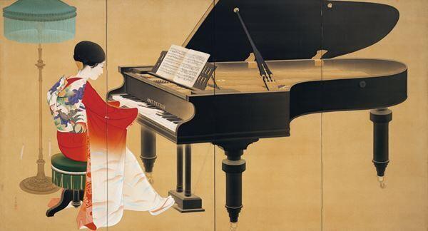 中村大三郎《ピアノ》1926年京都市美術館蔵