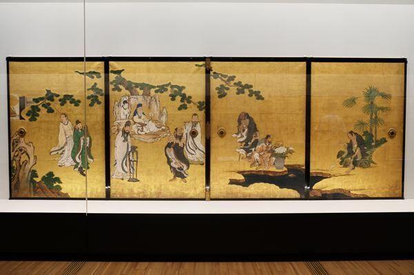 狩野山雪《群仙図襖(旧・天祥院客殿襖絵)》江戸時代、正保3年(1646)