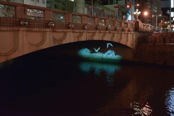 さわひらき《Flying along a dry river bed(installation)》