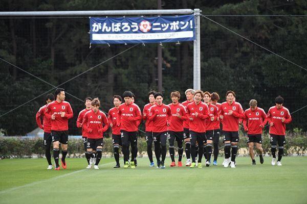 FIFAワールドカップカタール2022アジア2次予選へ向けて汗を流すSAMURAI BLUEの面々 (c)JFA
