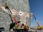 《コロナ時代のアマビエ》プロジェクト第2弾、鴻池朋子「武蔵野皮トンビ」が角川武蔵野ミュージアムに登場!