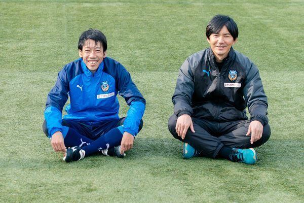 (写真左より)中村憲剛、伊藤宏樹 撮影:佐野美樹