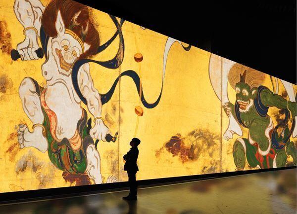 『巨大映像で迫る五大絵師』− 北斎・広重・宗達・光琳・若冲の世界 −