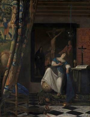 ヨハネス・フェルメール≪信仰の寓意≫1670-72 年頃 メトロポリタン美術館 Lent by The Metropolitan Museum of Art, The Friedsam Collection, Bequest of Michael Friedsam, 1931